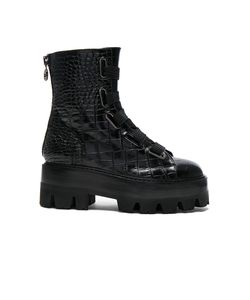 Ellery | Croc Embossed Sunny Boots