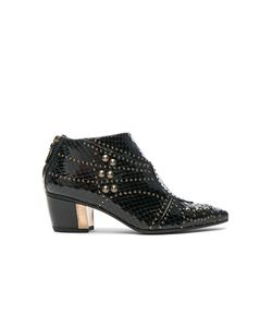 Rodarte | For Fwrd Embossed Studded Leather Booties