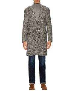 Michael Bastian | Wool Herringbone Peak Lapel Top Coat