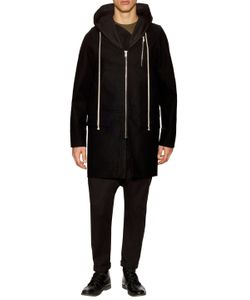 Rick Owens | Wool Solid Hooded Coat