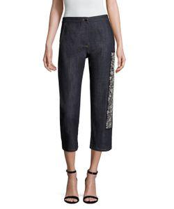 Dior | Cotton Embellished Cropped Denim Pant