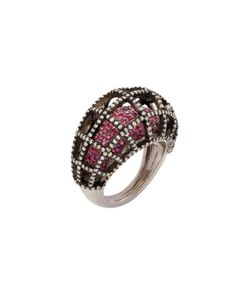 Arthur Marder Fine Jewelry | 1.50 Total Ct. Diamond Ruby Cage Cocktail Ring