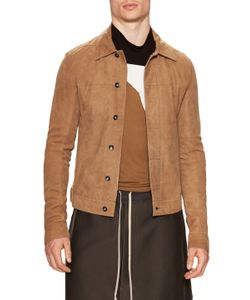 Rick Owens | Leather Spread Collar Jacket