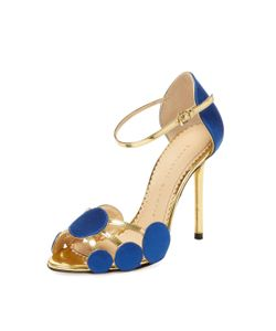 Charlotte Olympia | Contemporary Silk Leather Sandal