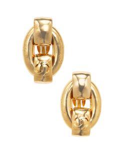 Chanel | Vintage Oval Cc Stud Earrings