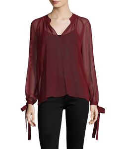 Derek Lam 10 Crosby | Silk Sleeve Ties Blouse