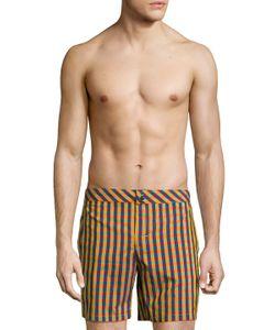 La Perla | Checkered Swimming Trunks