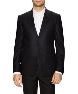 Givenchy | Wool Leather Trim Shawl Lapel Sportcoat