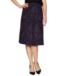 Thakoon | Wool Printed Skirt With Lace Insert
