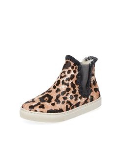 Mou | Chelsea Cow Hair Hi Top Sneaker