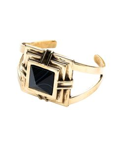 Pamela Love | Rise Black Agate Step Cuff