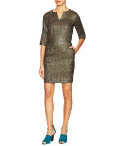 Suno | Metallic 3/4 Sleeve Sheath Dress