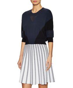Ohne Titel | Cotton Crewneck Intarsia Crop Sweater