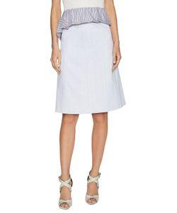 Thakoon | Back Button Up Cotton Midi Skirt