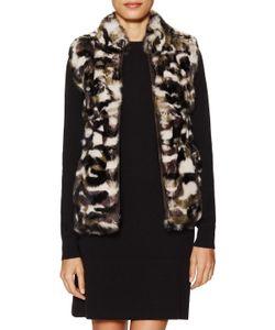 Jocelyn   Camouflage Long Hair Rabbit Reversible Vest