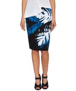 Timo Weiland | Palm Print Back Vent Pencil Skirt