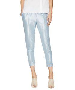 Ji Oh | Metallic Cropped Skinny Pant