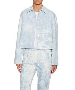 Thakoon | Cotton Sky Print Cropped Jacket