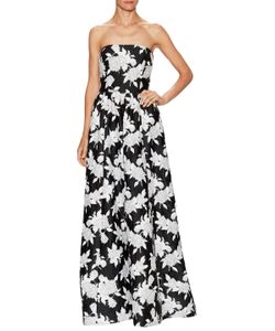 Oscar de la Renta | Embroidered Floor Length Dress