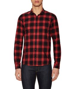 Hugo Hugo Boss | Ero Three Cotton Plaid Print Sport Shirt