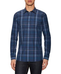 Hugo Hugo Boss | Elisha Cotton Plaid Print Sport Shirt