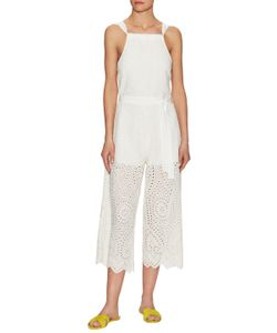 Saylor | Amber Eyelet Embroidered Jumpsuit