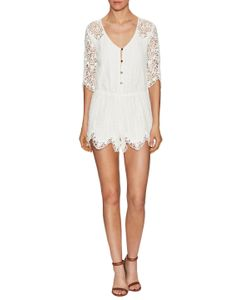 Saylor | Grace Cotton Lace Scalloped Romper