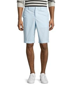 Kenzo | Cotton Solid Flat Front Shorts