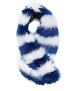 Charlotte Simone | Candy Striped Faux Fur Cuff 40 X 6