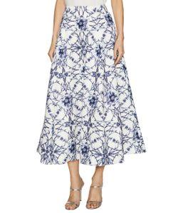 Marchesa Notte | Cotton Print Textured A Line Skirt