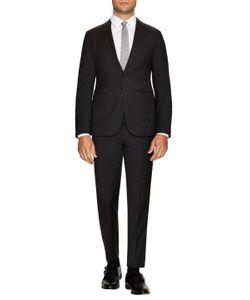 Armani Collezioni | Wool Sharkskin Notch Lapel Suit
