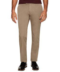 Armani Collezioni | Cotton Flat Front Trousers