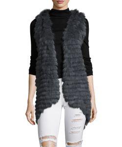 Jocelyn | Dylana Hooded Rabbit Hair Vest