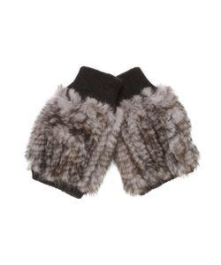 Jocelyn | Mink Mittens With Knit Trim