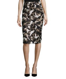 Prabal Gurung | Embroidered Front Pencil Skirt