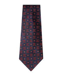 Chanel | Vintage Navy Logo Silk Jacquard Tie