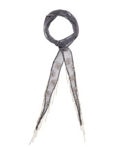Chanluu | Beaded Skinny Scarf