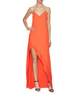 Narciso Rodriguez | Crepe Bias Asymmetrical Maxi Dress