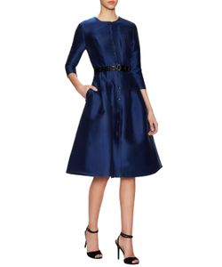 Carolina Herrera | Crewneck Belted Flare Dress