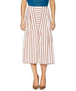 Piazza Sempione | Cotton Striped A-Line Skirt