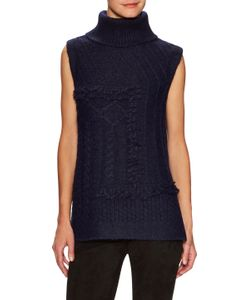 Derek Lam 10 Crosby | Sleeveless Cable Knit Turtleneck