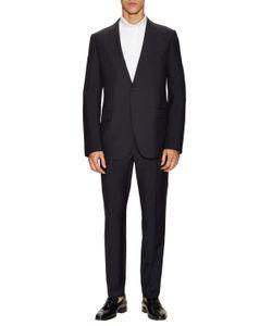 Armani Collezioni | Wool Solid Peak Lapel Suit