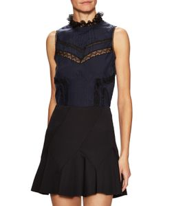 Derek Lam 10 Crosby | Pintuck Lace Paneled Shirt