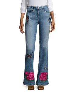 3X1   High Rise Embroidered Wide Cuff Jean