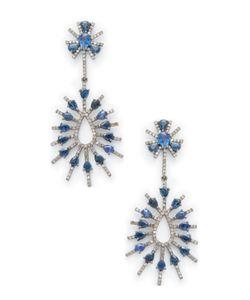 Arthur Marder Fine Jewelry | 1.02 Total Ct. Diamond Sapphire Earrings