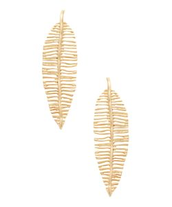 Kenneth Jay Lane | Feather Statement Earrings