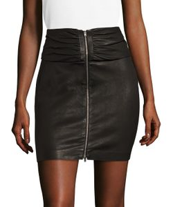 Iro | Zip Front Leather Mini Skirt