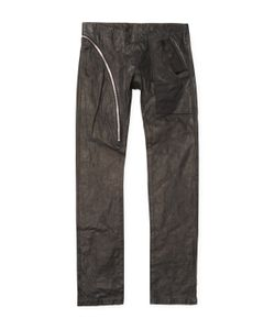 Rick Owens | Leather Solid Slim Straight Pants
