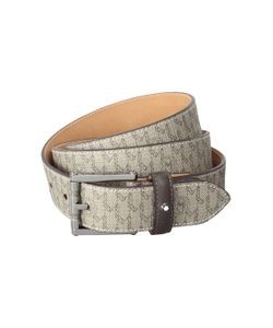 Montblanc   Square Roll Shiny Ruth Pin Buckle Stony Sign Strap Belt