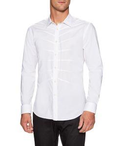 Alexander McQueen   Woven Ribcage Dress Shirt